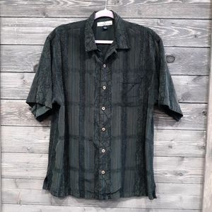 TOMMY BAHAMA SILK BUTTON DOWN SHIRT